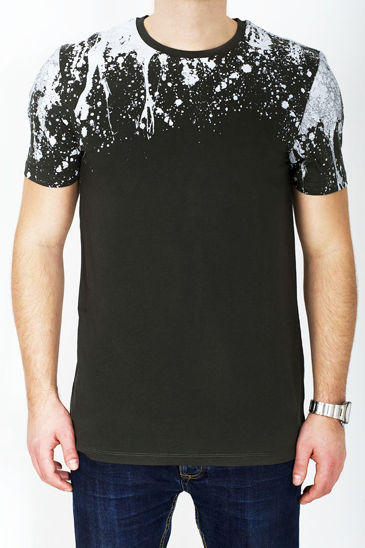 T-shirt splash - kolor zielony
