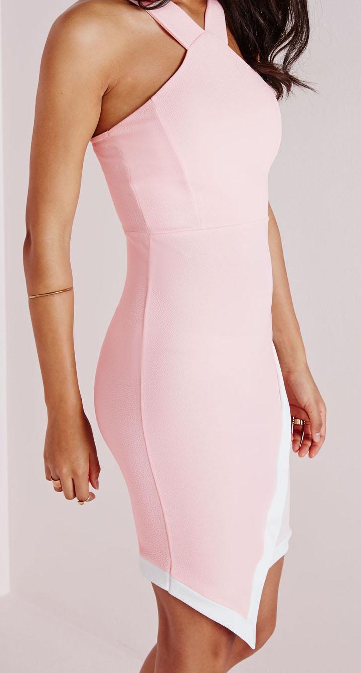 Sukienka na wesele dopasowana asymetryczna :: Sukienki
